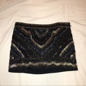 All saints beaded mini skirt